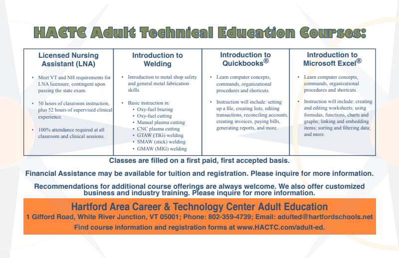Adult Ed program overview